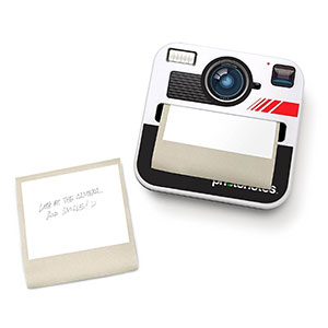 cadeau photographie carnet notes polaroid